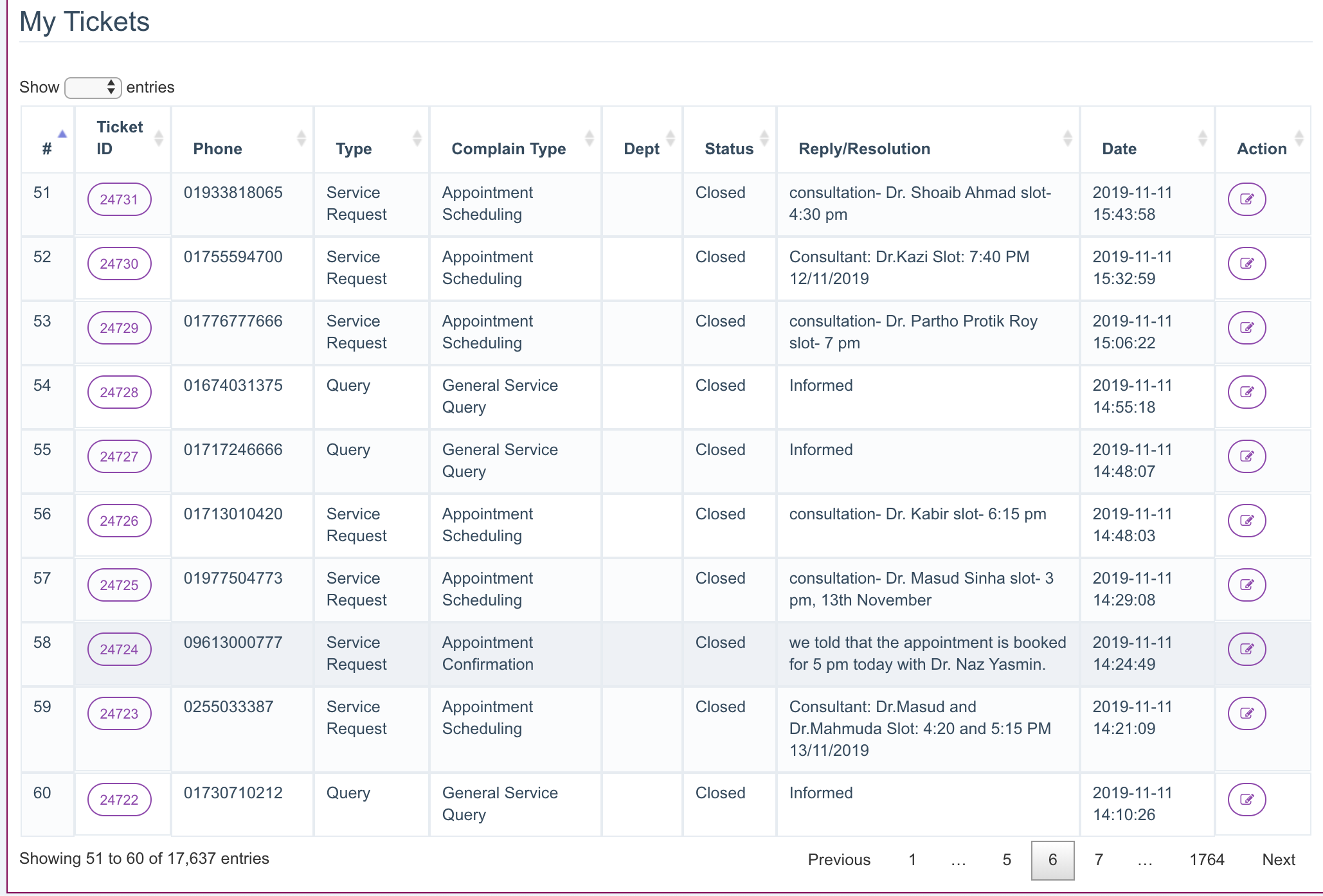 CRM & Service management monitoring Application feature